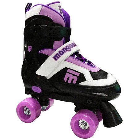 Mongoose MG-097G-S Girls Size Small Comfortable Quad Rollerblade Skates, Purple