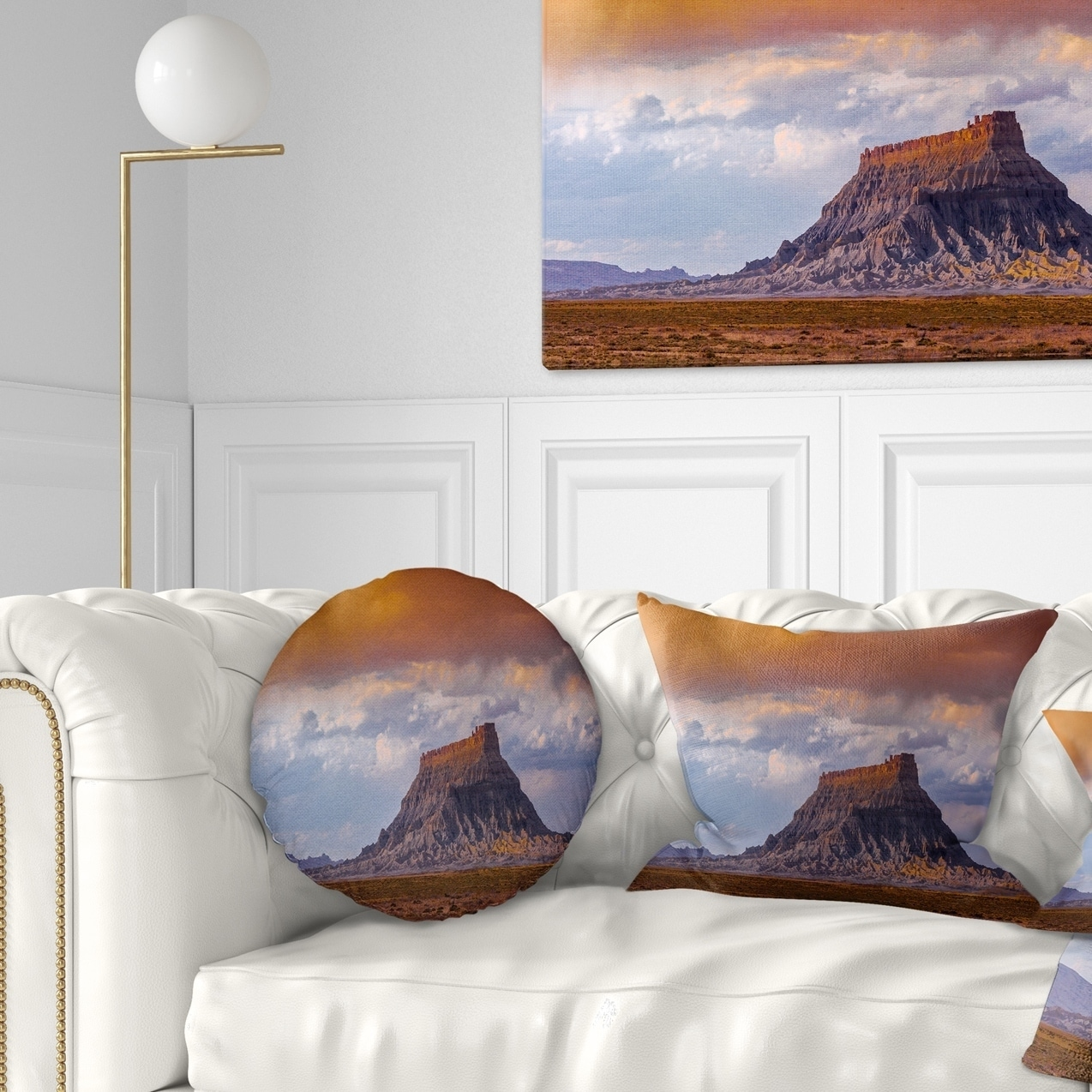 Design Art Designart Factory Buttle Utah Panorama Landscape Printed Throw Pillow Walmart Com Walmart Com