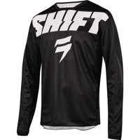 Shift Racing Wht Label York Youth Motocross Motocross Jersey - Blk, All Sizes