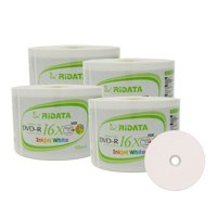 200 Pack Ridata DVD-R 16X 4.7GB 120 Min White Inkjet Hub Printable Blank Data Video Media Recordable Disc