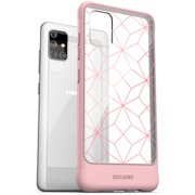 Encased Samsung A51 Case Pink (Muse) Slim Fit Protective Phone Cover for Galaxy A51 (Geo Pink/Clear)