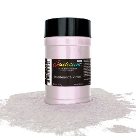 U.S. Art Supply Jewelescent Interference Violet Mica Pearl Powder Pigment 2oz (57g) Bottle- Non-Toxic Metallic Color Dye