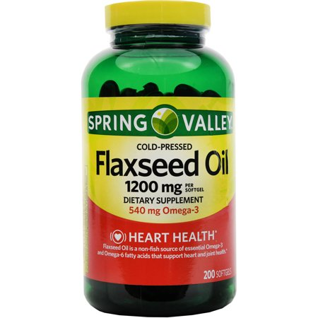 Spring Valley Flaxseed Dietary Supplement Softgels, 1200mg,