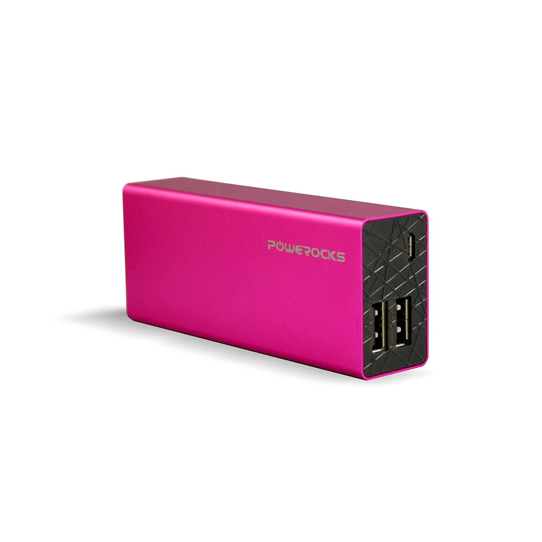 Powerocks Pink Rose Stone Universal 6000mAh Extended Battery
