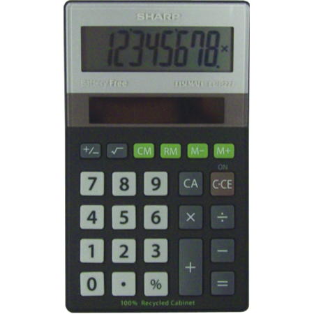 EL-R277BBK Eco-concept Handheld Basic Calculator - PT -  ELR277BBK
