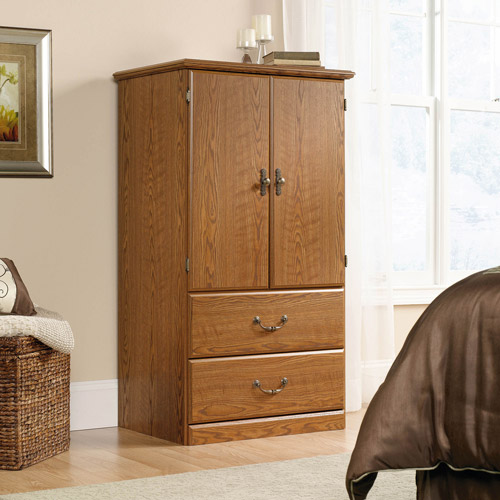 Sauder Orchard Hills Armoire, Carolina Oak
