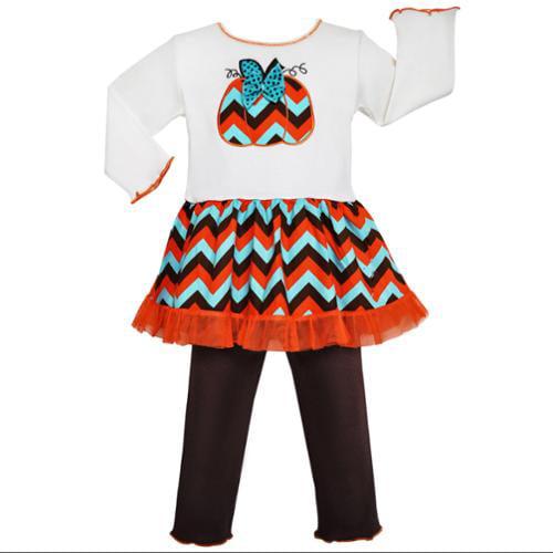 Annloren Girls Boutique Chevron Pumpkin Dress Thanksgiving Outfit ...