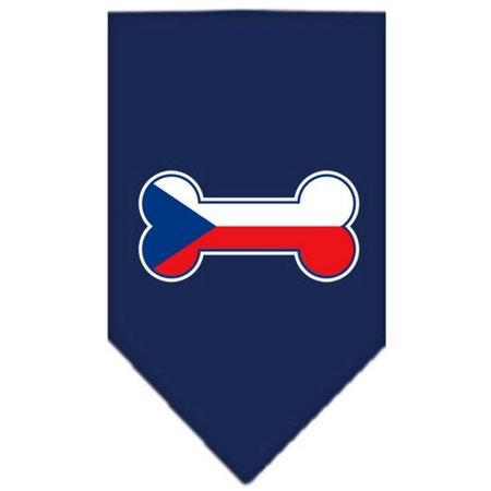 Bone Flag Czech Republic Screen Print Bandana Navy Blue (Navy Blue Bandana)