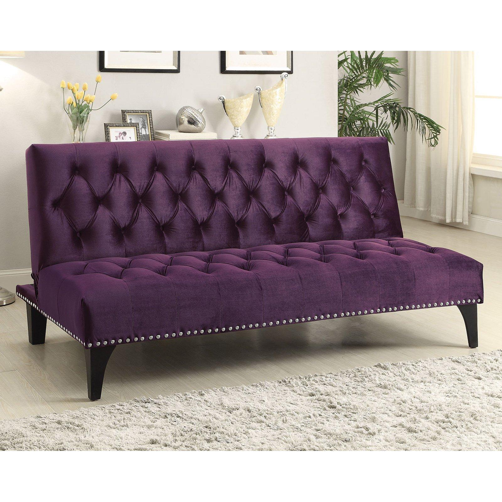 Coaster Company Velvet Sofa Bed, Multiple Colors