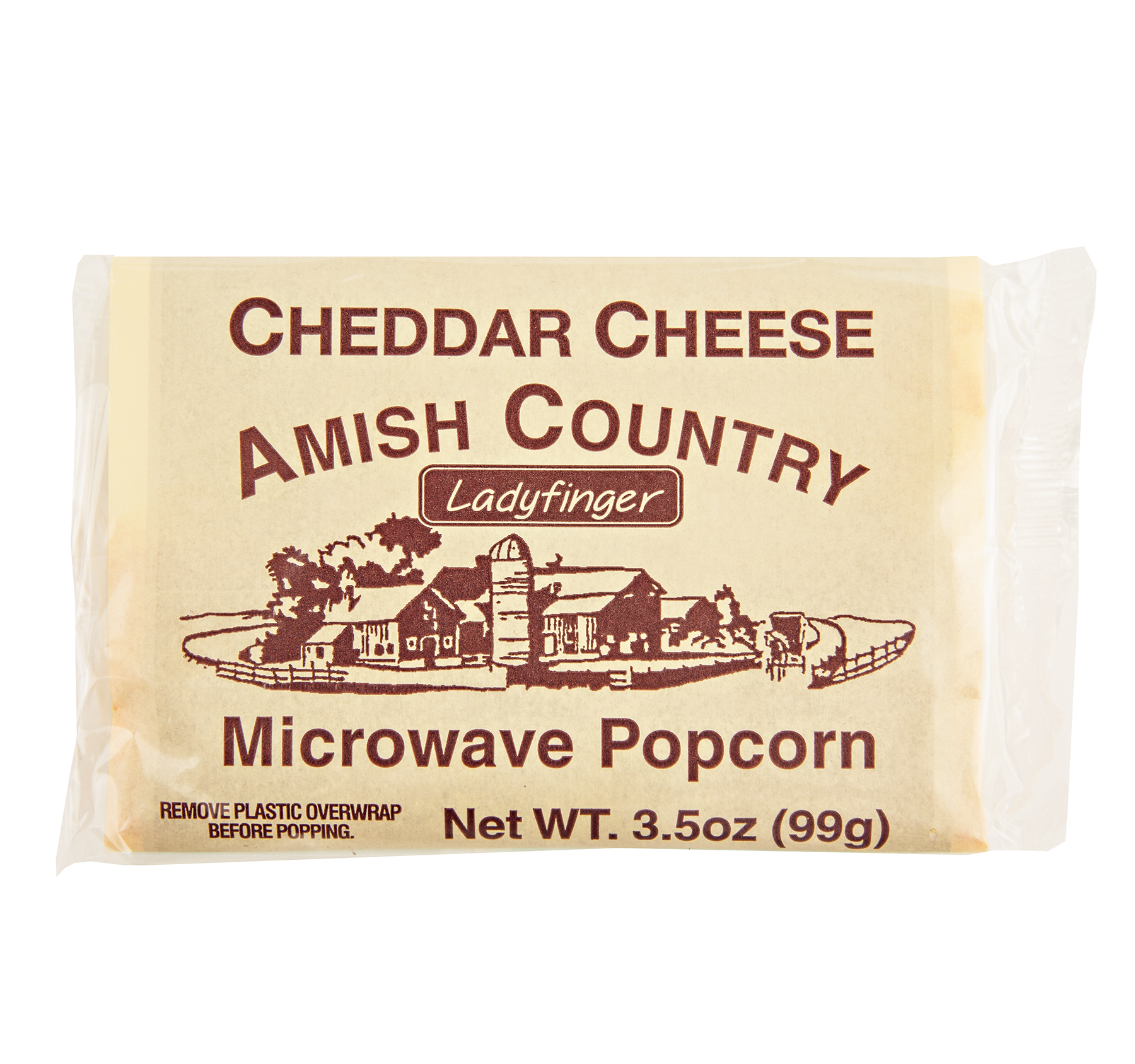 Amish Country Cheddar Cheese Microwave Popcorn, 3.5 oz. (10 Bags)