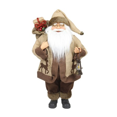 Northlight Seasonal Country Rustic Santa Claus with Lantern Christmas Tabletop Decoration](Christmas Tabletop Decorations)