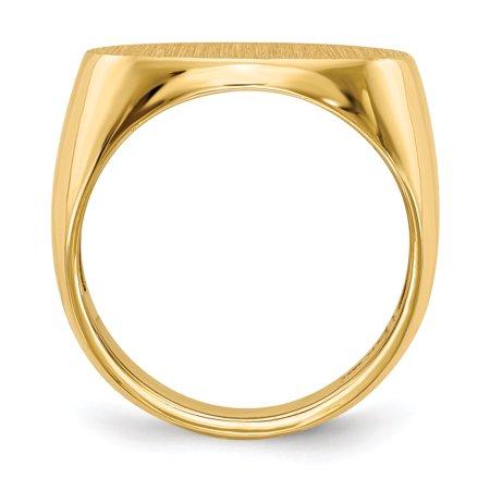 14K Yellow Gold Men's Signet Ring - image 3 de 5
