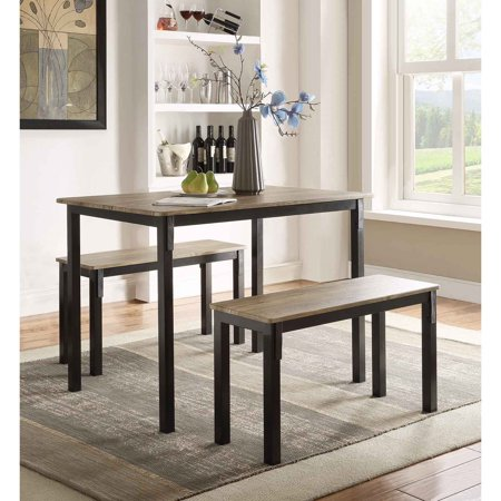 4D Concepts Boltzero 3 Piece Dining Table Set 3 Set Dining Tables