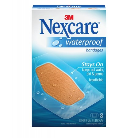 Waterproof Bandage Covers - Nexcare Waterproof Bandages, Knee and Elbow, 8 ct.