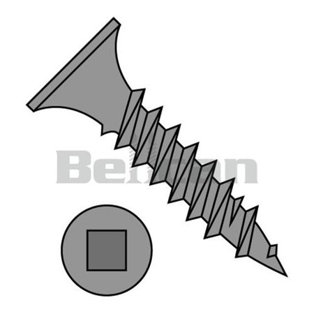 No.8 x 1.5 Square Drive Bugle Head Fine Thread Drywall Screw, Black Phosphate - Box of
