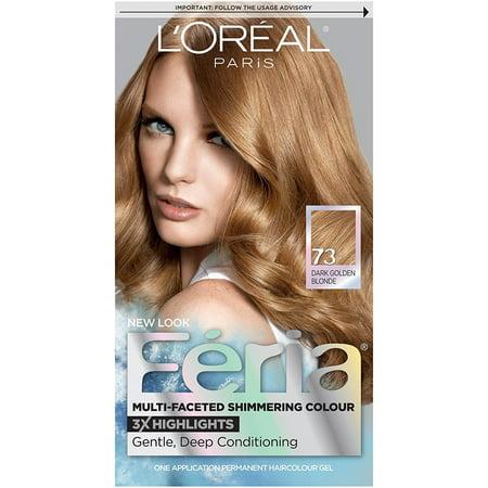 L'Oréal Paris Feria Permanent Hair Color, 73 Golden Sunset (Dark Golden (Blonde On Top And Dark Underneath Hairstyles)