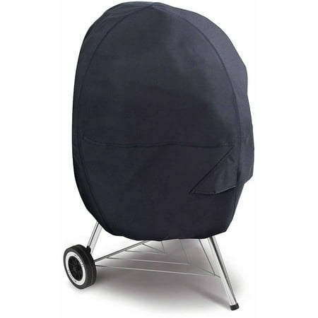 Classic Accessories Kettle Barbecue BBQ Grill Patio Storage Cover, Black (Bbq Kettle Cover)