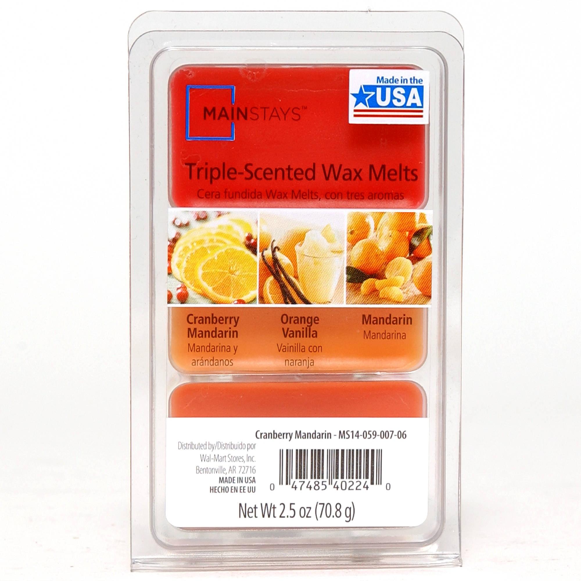 Mainstays 2.5-Ounce Triple Pour Melt Wax Cubes, Cranberry Mandarin