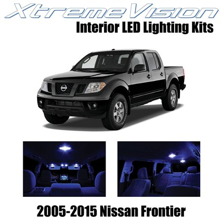 Xtremevision Led For Nissan Frontier 2005 2015  5 Pieces  Blue Premium Interior Led Kit Package   Installation Tool