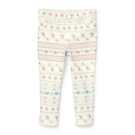 dfaa29391627d The Children's Place - Baby And Toddler Girls Glitter Printed Knit ...