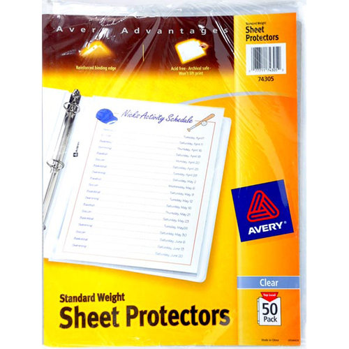 Avery Standard Weight Sheet Protector, 50ct