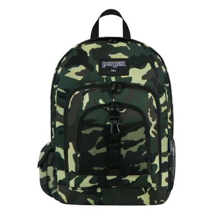 U.S.A Green Camouflage Military Sports Backpack 18 - Walmart Camo Backpack