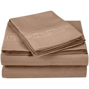 Impressions Fogarty Embroidered Microfiber Deep Pocket Sheet Set with Bonus Pillowcases