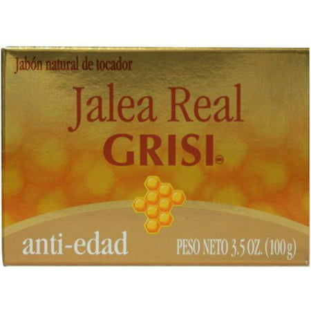 Grisi Royal Jelly Anti-Aging Herbal Soap, 3.5 oz (Pack of