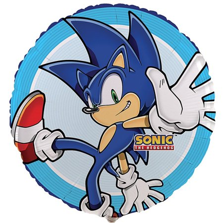 Sonic The Hedgehog Balloons (Party Destination Sonic the Hedgehog Foil)