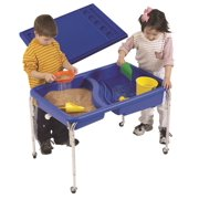 Neptune Table and Lid Set in Blue (24 in.)