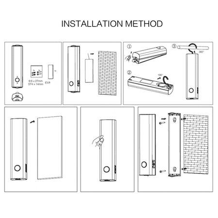 Détection Mouvement PIR Batterie Rechargeable 10 LED Lumière Penderie Cabinet des escaliers - image 2 de 8