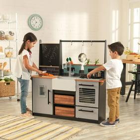 Teamson Kids - Chelsea Big Play Kitchen - Silver / White