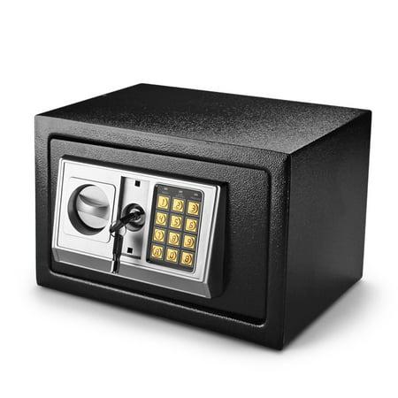 Digital Electronic Safe Box Keypad Lock Security Cabinet with Hidden Wall Mount Anchoring 2 Keys For Gun Money Cash Deposit Jewelry Passport Valuable Home Office Hotel (Laser Deposit)