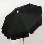 DestinationGear Italian 6' Umbrella Acrylic Solid Black Patio Pole