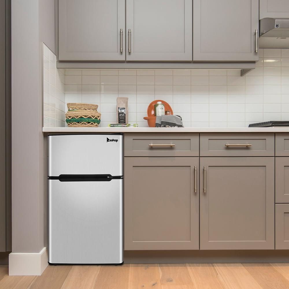 2 Door Mini Fridge With Freezer For Bedroom Home Dorm Or