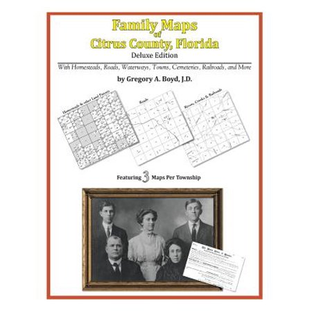 Family maps of citrus county, florida: (Show Me A Map Of Florida Counties)