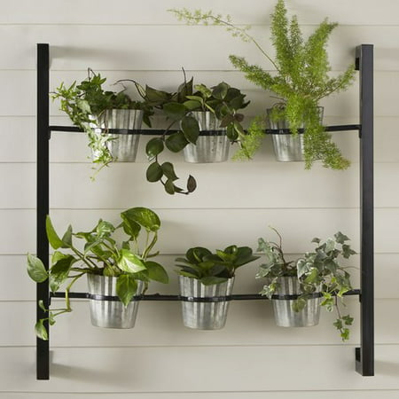 Kate and Laurel 6-Piece Groves Metal Wall Planter Set - Halloween Grove Gardens