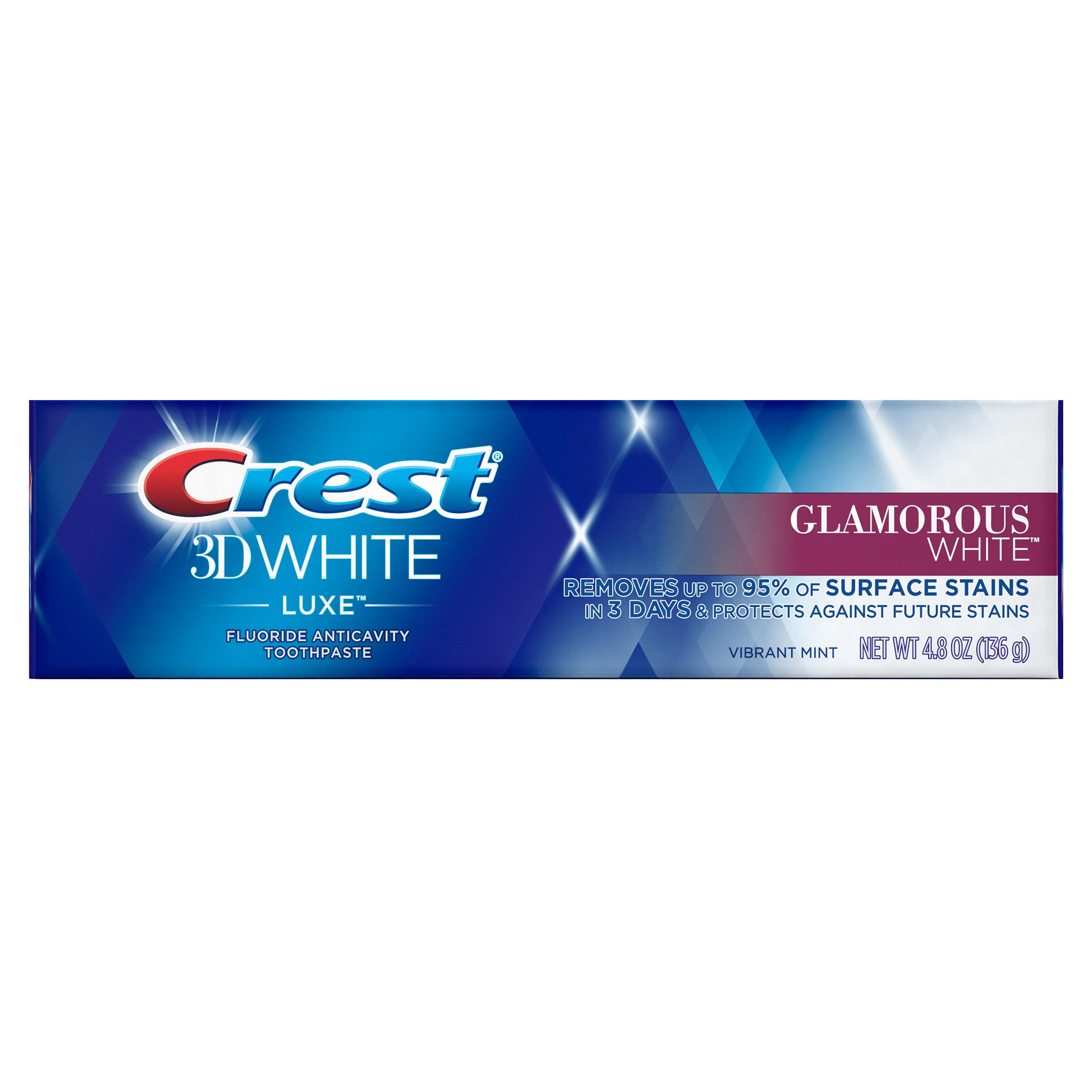 Crest 3d White Luxe Glamorous White Whitening Toothpaste Vibrant