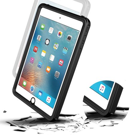 Cribun iPad Mini 4 Waterproof Case,IP68 Waterproof iPad Mini 4 Waterproof Case with Adjustable Tablet Stand Built-in Screen Protector - image 4 of 7