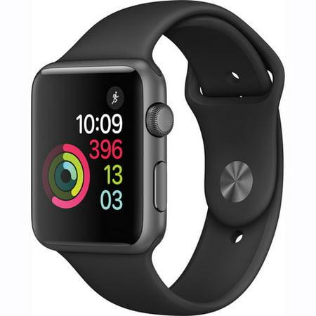 Refurbished Apple Watch Gen 2 Series 1 42Mm Space Gray Aluminum   Black Sport Band Mp032ll A