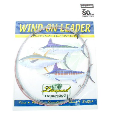 Diamond 90001 Monofilament Wind On Leader 80Lb 25' Smoke Blue