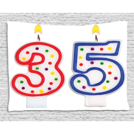 35th Birthday Decorations Tapestry Surprise Party Event Objects