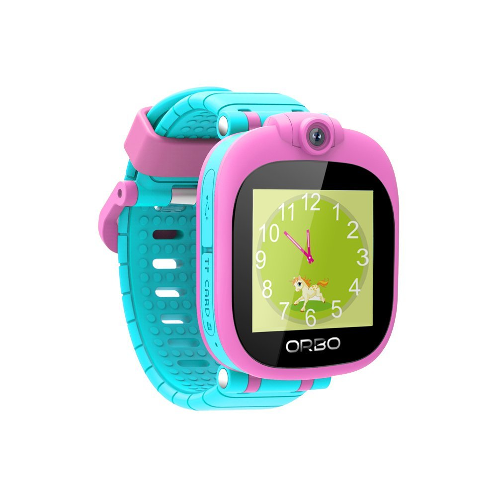 Orbo Kids Smartwatch with Rotating Camera, Bluetooth Phone Pairing, Games, Timer, Alarm Clock, Pedometer & Much More - Pink