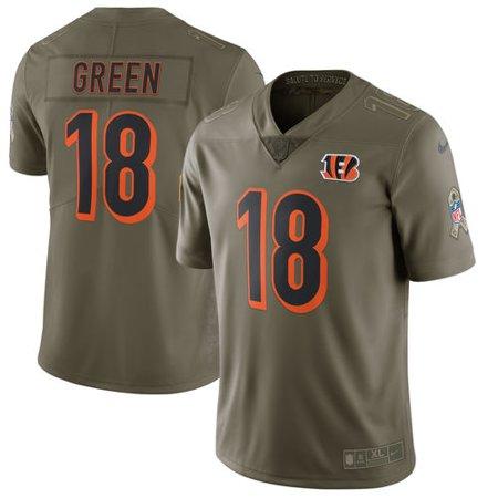 Nice Men's Nike A.J. Green Olive Cincinnati Bengals Salute To Service