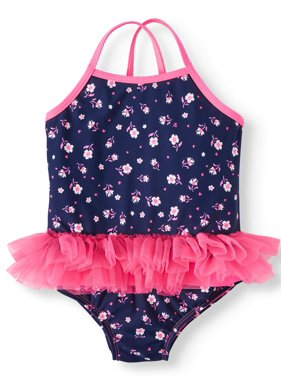 Wonder Nation Wowease Magnetic Closure Tutu Swimsuit (Toddler Girls)