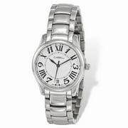 Mia Diamonds Ladies Chisel Stainless Steel White Dial Watch