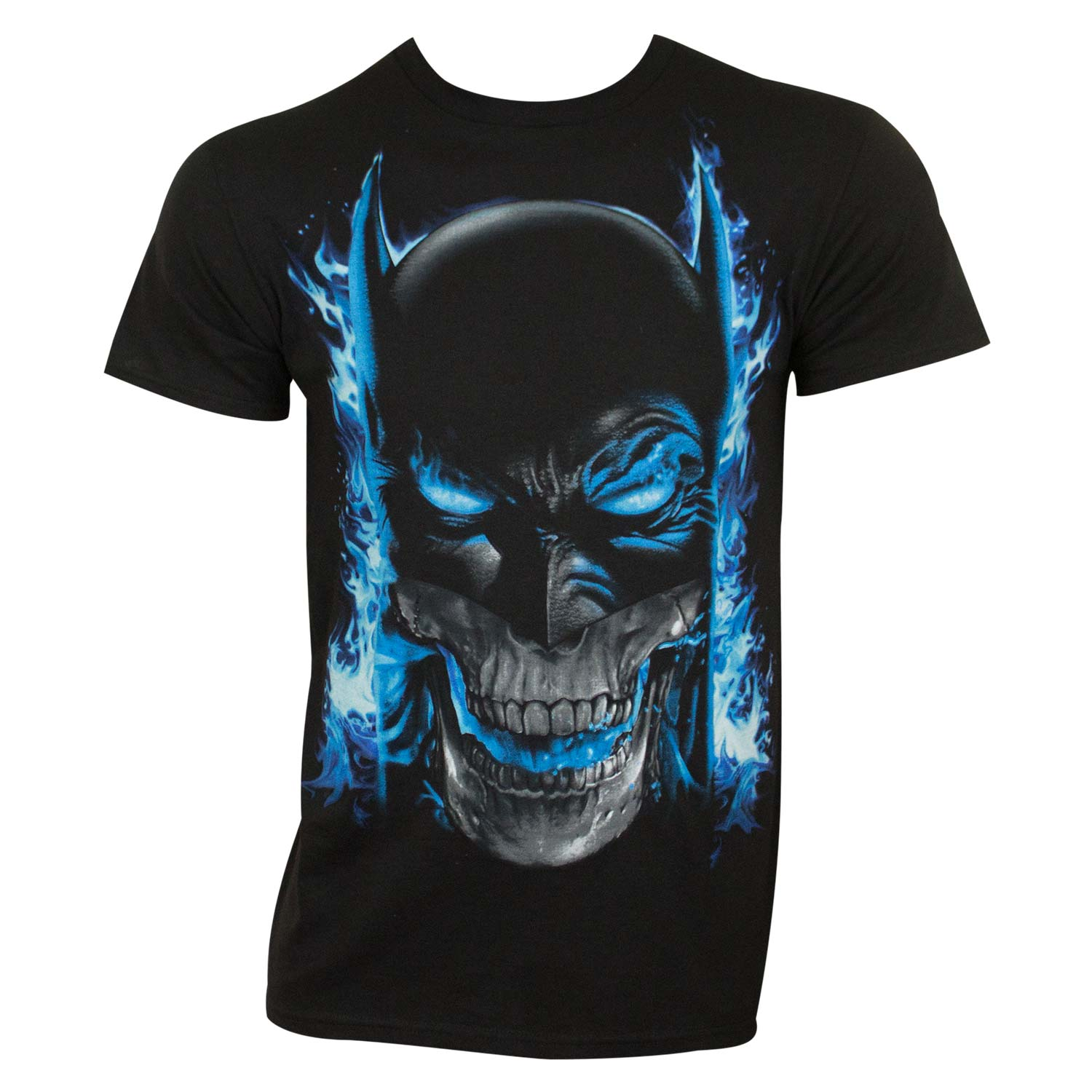 Batman Blue Flame Tee Shirt by
