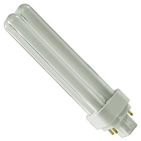 (4 Pack) PLC-18W 850, 4 Pin G24q-2, 18 Watt Double Tube, Compact Fluorescent Light Bulb, Replaces Sylvania CF18DD/E/850 and Philips - PL-C 18W/850/4P/ALTO