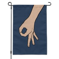The Circle Game Garden Yard Flag with Pole Stand Holder