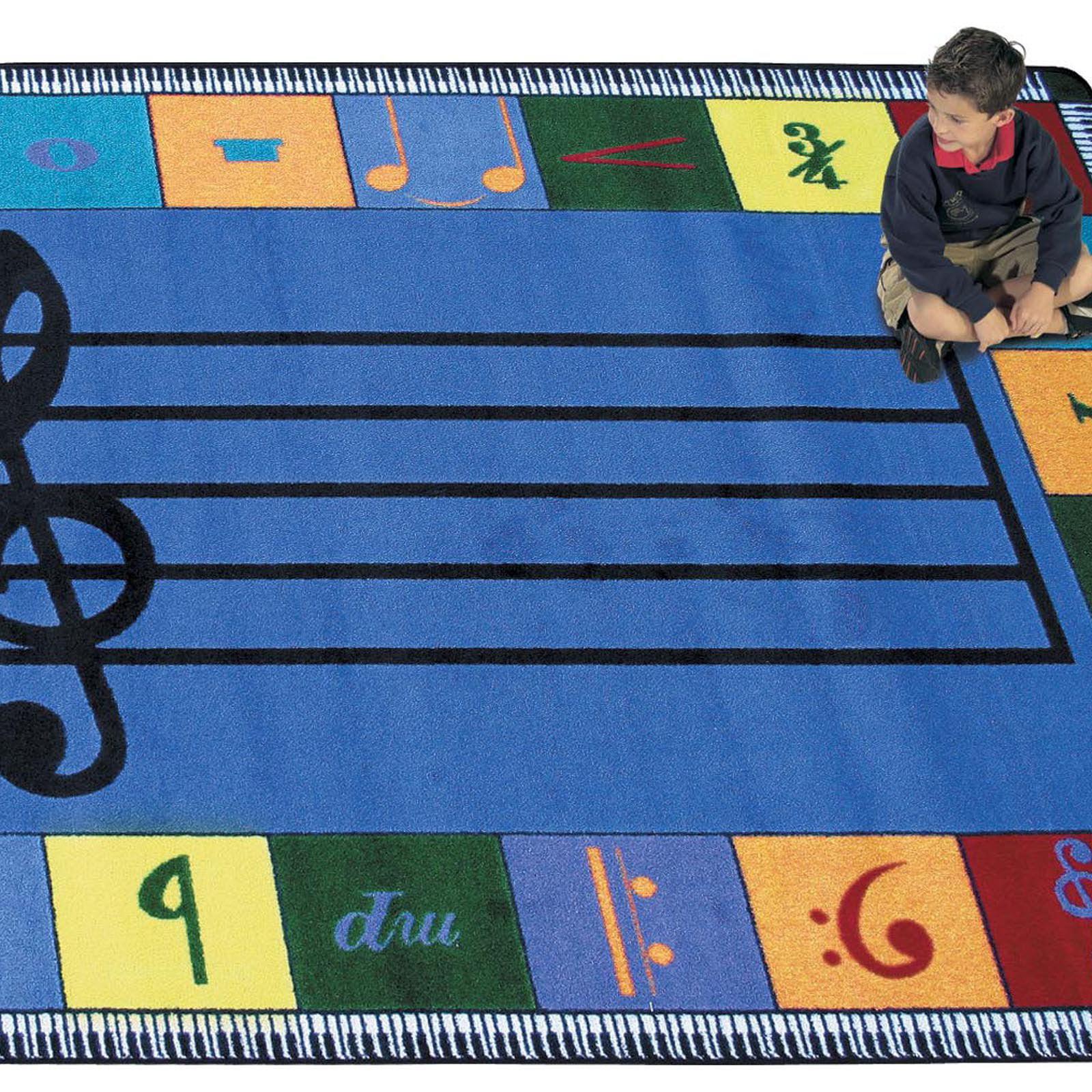 Joy Carpets Note Worthy Kids Area Rug